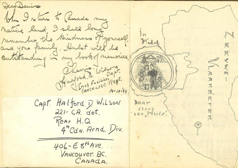 Twee pagina's uit het dagboek van Denise Wauters (Bron: Bevrijdingsmuseum Zeeland)