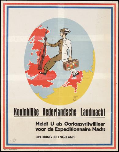 Affiche uit 1944 van deKoninklijke Nederlandsche Landmacht.