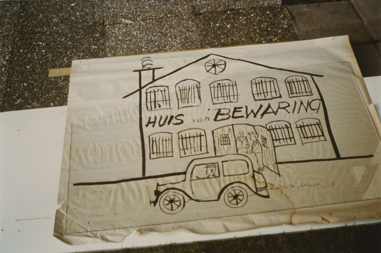Tekening van Bob Houwen.