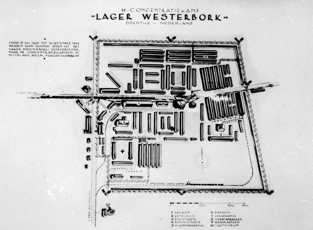 Plattegrond van Westerbork