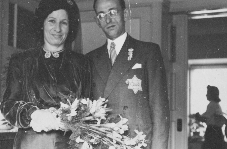 Joods huwelijk in Scheveningen op 5 mei 1942