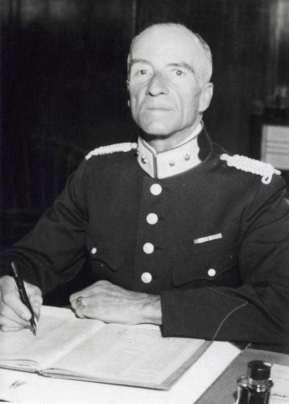 Gerardus Johannes Kerlen bij zijn benoeming tot hoofdcommissaris van politie in Utrecht.