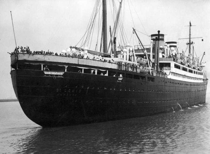 Aankomst van de St. Louis in Antwerpen op 17 juni 1939