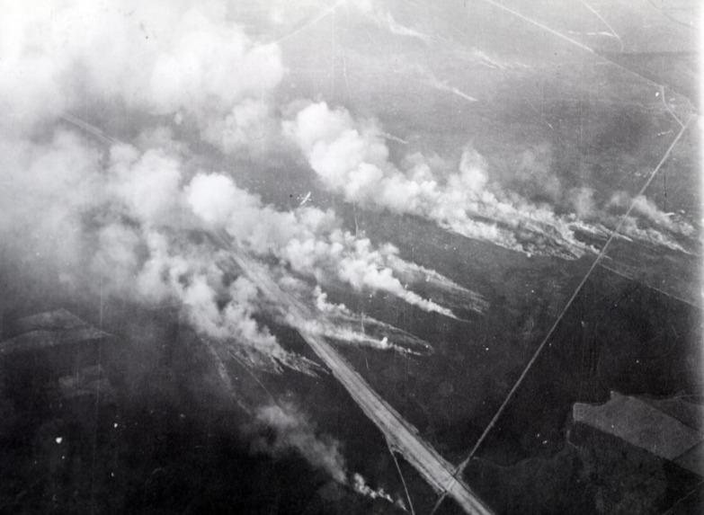 Luchtfoto van de Ginkelse Heide