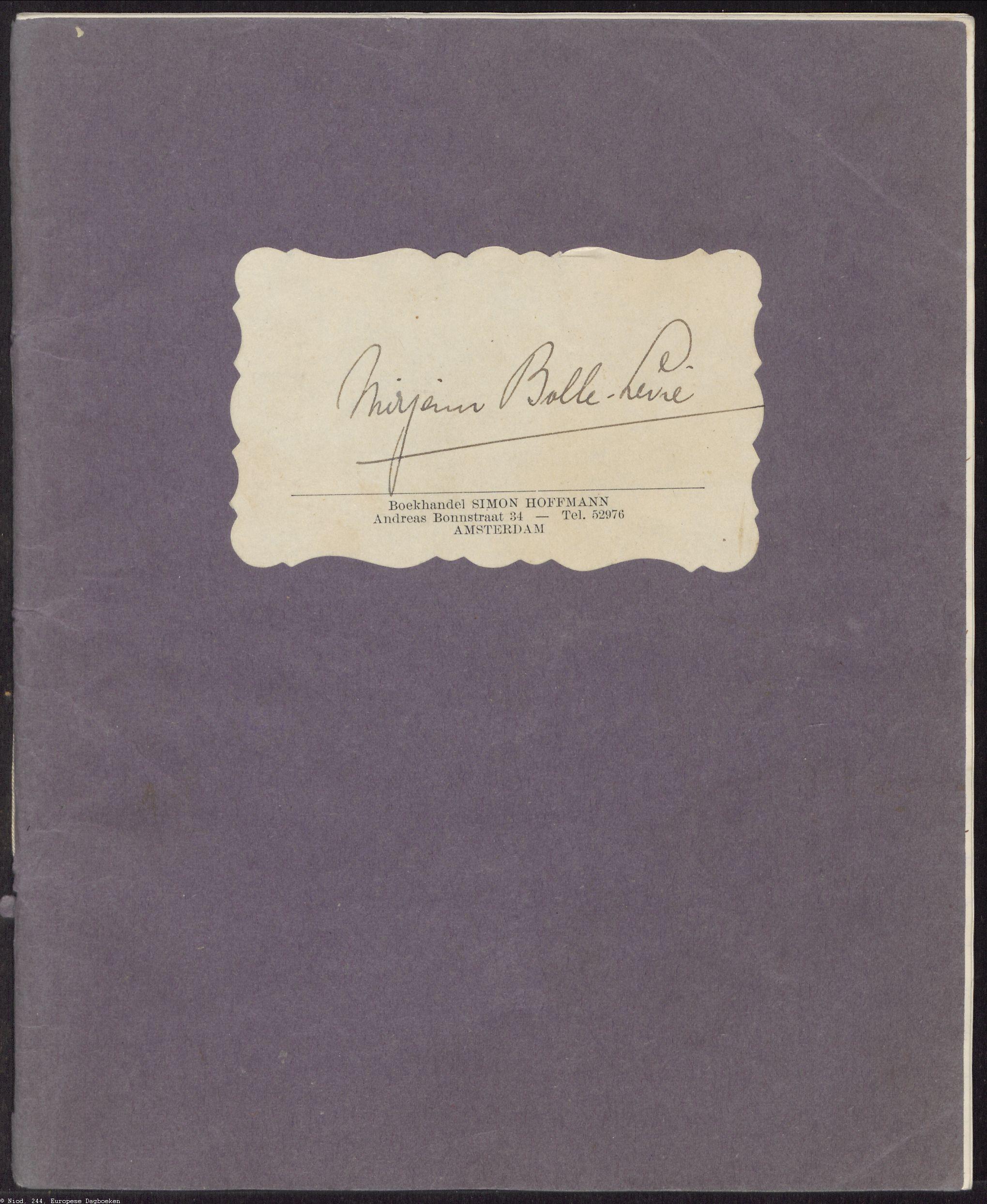 Briefdagboek Mirjam Bolle