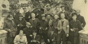 De overvallers, gefotografeerd na de bevrijding