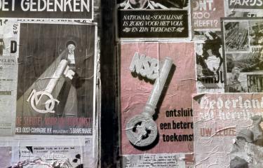 Propagandapostervoor de NSB uit augustus 1943